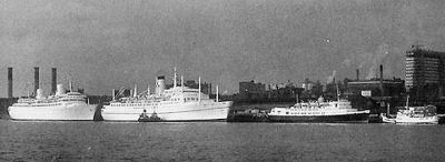 KUNGSHOLM, EMPRESS OF CANADA, BEN-MY-CHREE and QUEEN OF THE ISLES in the late 1960s